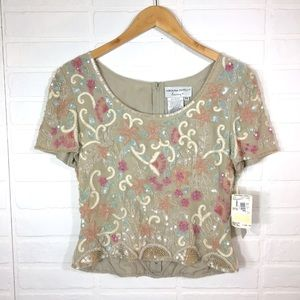 Vintage Adrianna Papell Evening Top 8P